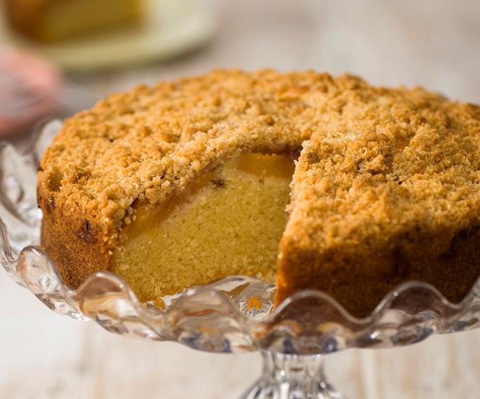 Ripe for the Picking - Nectarine Crumble cake