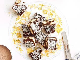 chocolate coconut hedgehog slice