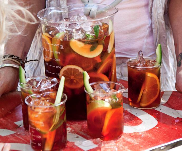 Christmas cranberry Pimm's cocktail
