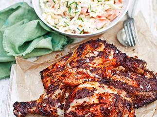 Piri-Piri chicken with coleslaw