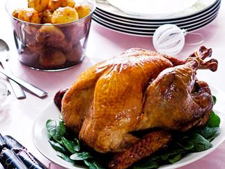 Roast turkey cranberry and macadamia stuffing