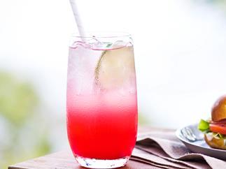 Ruby red grapefruit mocktail