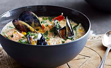 Rich and delicious seafood chowder