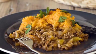 Shepherd's pie with sweet potato mash