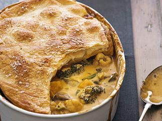 Thai red curry vegetable pie
