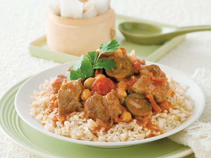 """Hearty, warming and packed full of wonderful flavours, this [pork and chickpea curry](https://www.womensweeklyfood.com.au/recipes/pork-chickpea-and-tomato-curry-27442