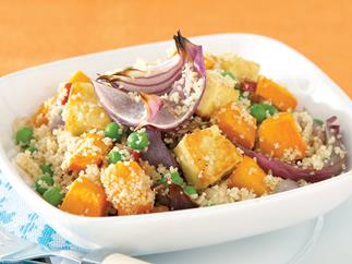Pumpkin, Haloumi and Pea Couscous