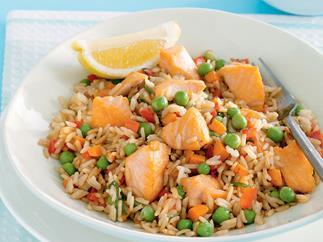 One Plus One - Salmon Fried Rice