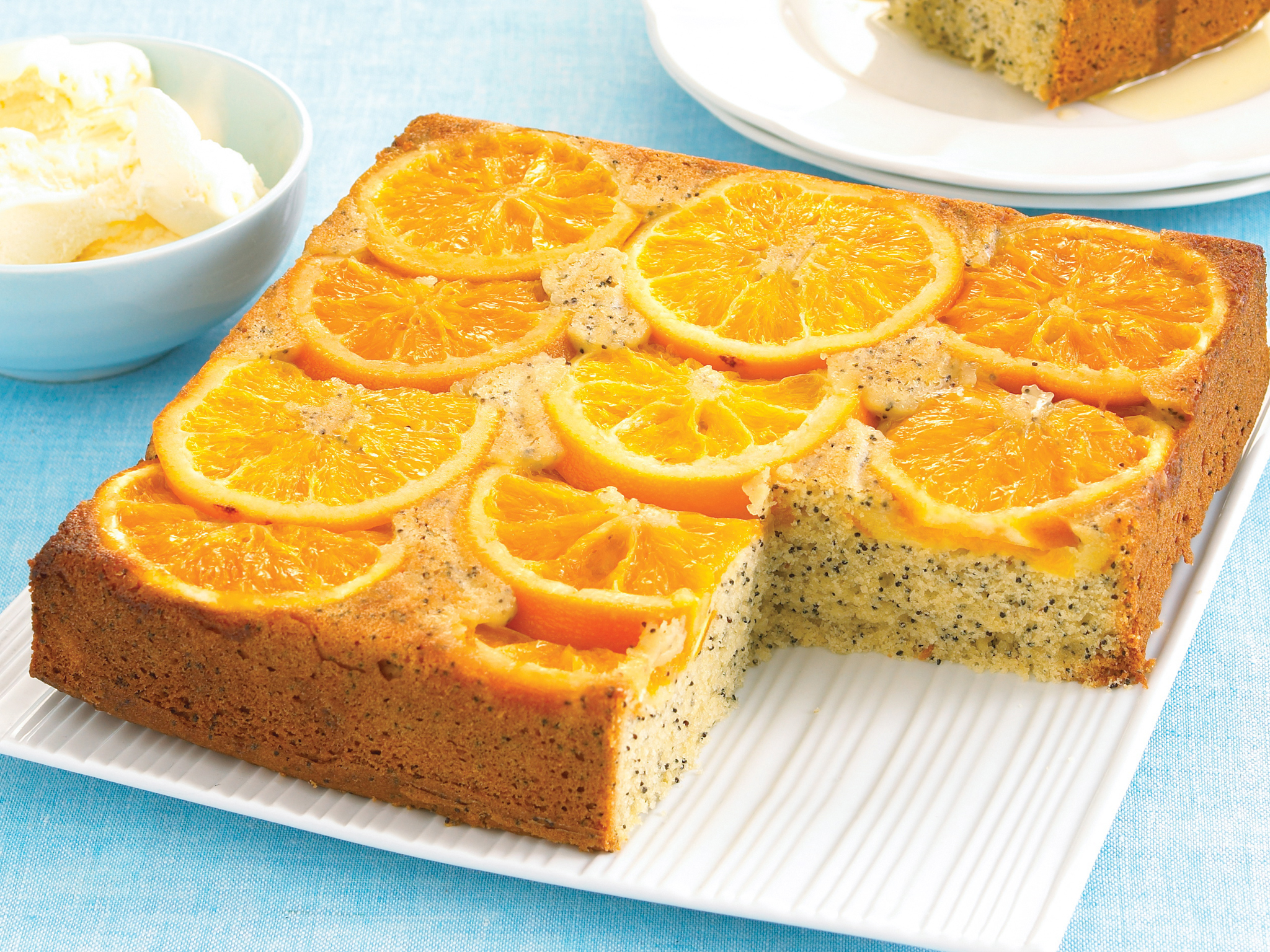 Vegan Orange Poppy Seed Cake