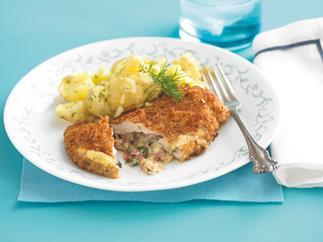 Chicken Kiev with Dill Potato Salad