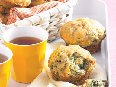 Spinach and corn muffins