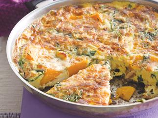 Pumpkin, Spinach and Bacon Frittata