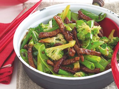Beef and broccoli stir-fry