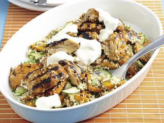 Grilled Tandoori Chicken with Pumpkin Couscous