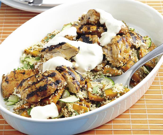 Grilled Tandoori Chicken with Pumpkin Couscous
