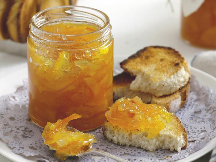 "*[Breakfast marmalade](https://www.womensweeklyfood.com.au/recipes/breakfast-marmalade-20416|target=""_blank"")*"
