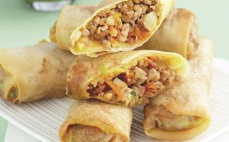 Chinese Pork and Water Chestnut Spring Rolls