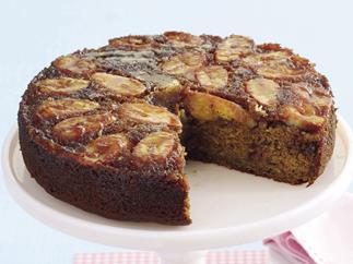 Banana Rum and Raisin Upside Down Cake