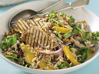 Mixed Rice Salad with Balsamic Tofu