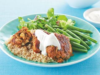 Curried Beef and Chickpea Rissoles