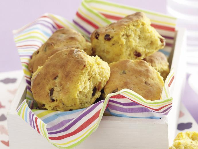 "**[Pumpkin and date scones](https://www.womensweeklyfood.com.au/recipes/pumpkin-and-date-scones-20548 target=""_blank"")**"