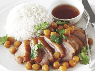 Honey Duck Breast with Chickpeas