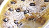 Blueberry and lemon delicious pudding