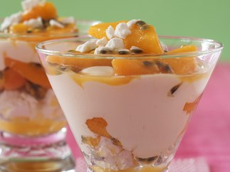 PEACH AND PASSIONFR MERINGUE