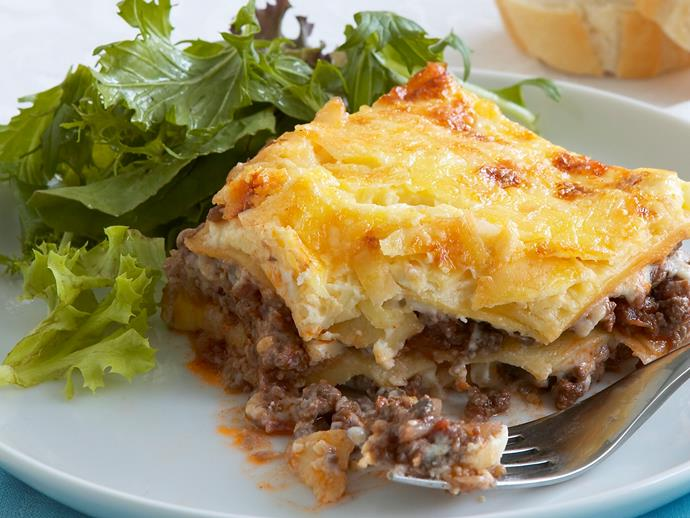 "**[Hearty lasagne](https://www.womensweeklyfood.com.au/recipes/hearty-lasagne-7150|target=""_blank"")**  Lasagne is always a satisfying dish. A lovely slosh of red wine and the addition of mushrooms make this recipe particularly hearty. No one will go hungry tonight."