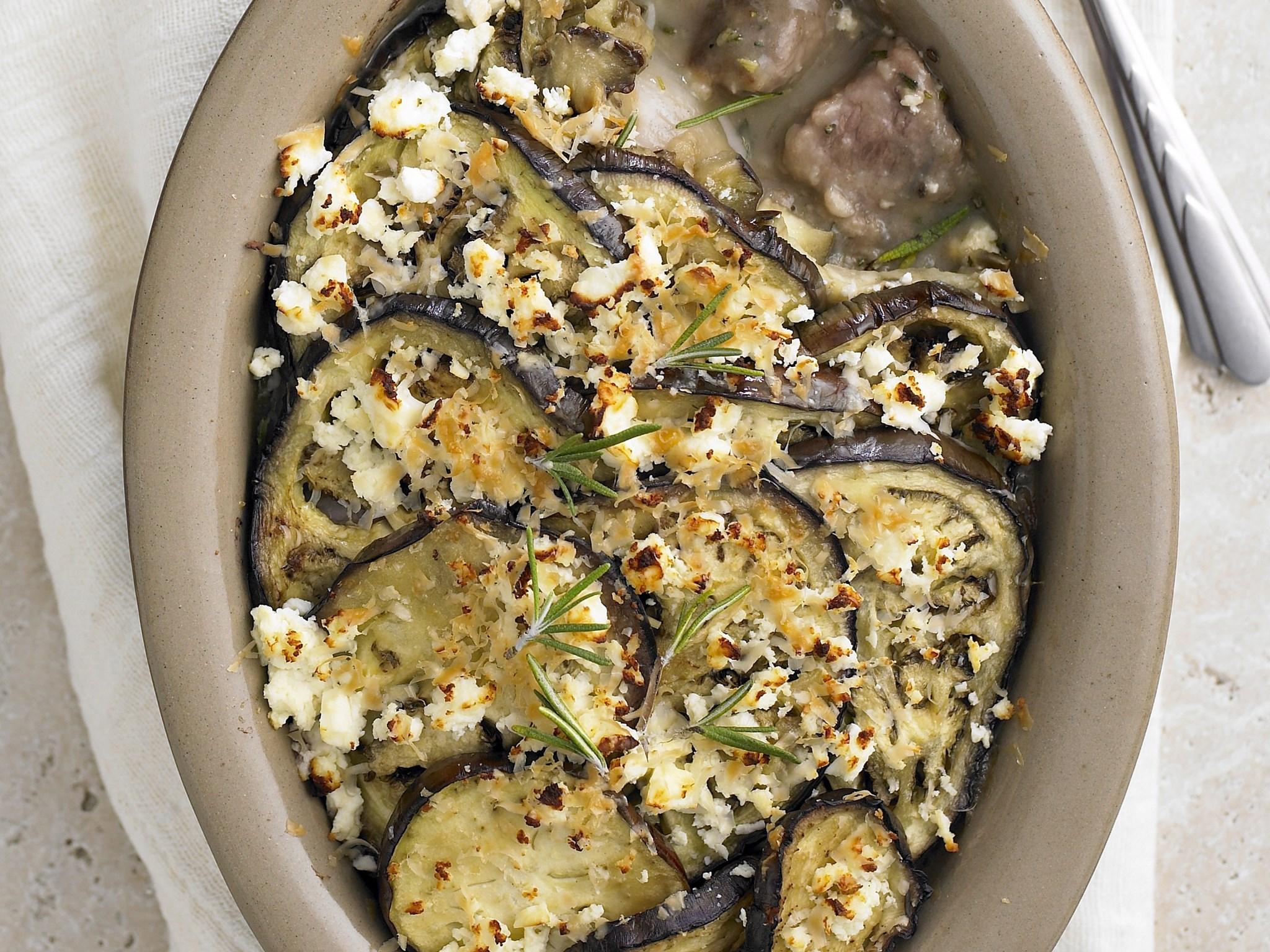 Lamb, feta and eggplant casserole recipe | FOOD TO LOVE