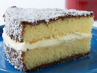 Lamington sponge cake