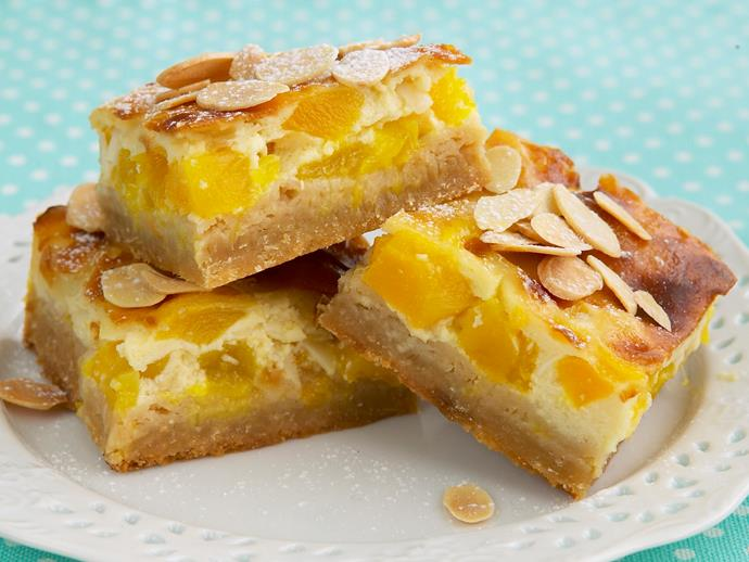 """**[Mango and coconut custard slice](https://www.womensweeklyfood.com.au/recipes/mango-and-coconut-custard-slice-26433