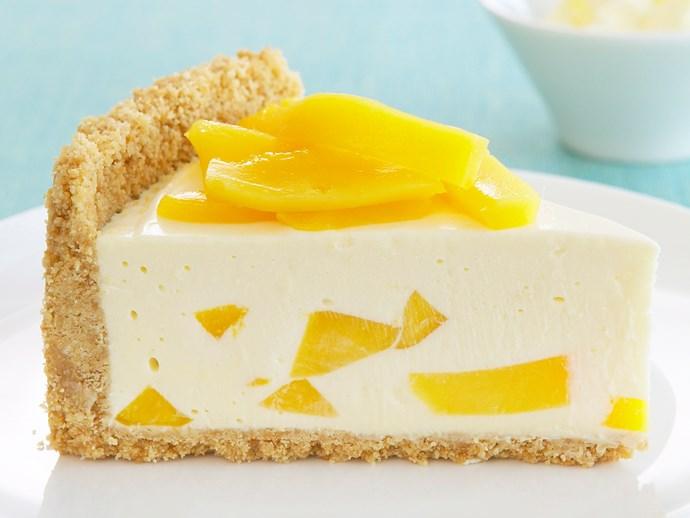 mango and lemon cheesecake