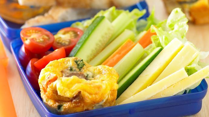 mini vegetable frittatas