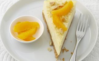 orange and macadamia Cheesecake