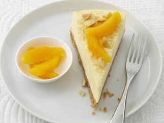 orange and macadamia Cheesecake