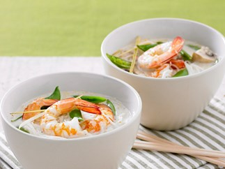 prawn and rice noodle curry