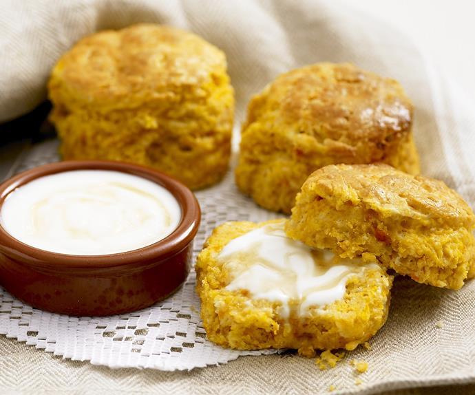 pumpkin and yoghurt scones