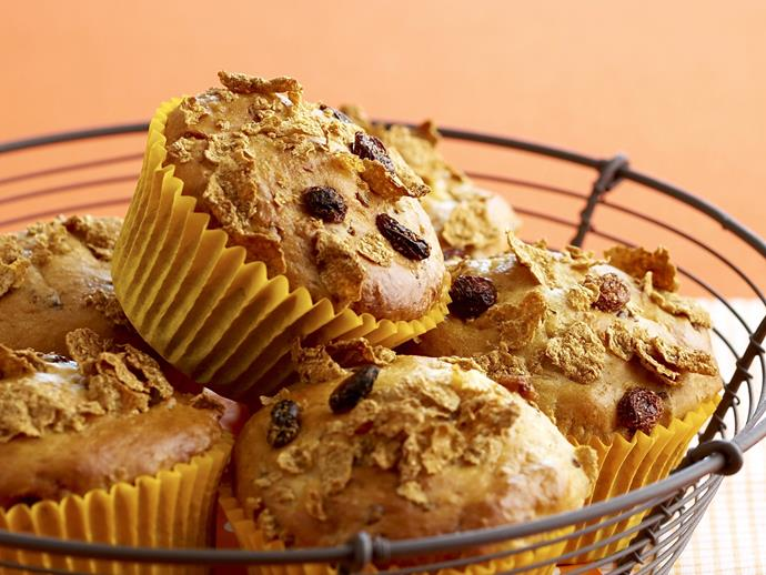 "**[Sultana bran muffins](https://www.womensweeklyfood.com.au/recipes/sultana-bran-muffins-19324|target=""_blank"")**"