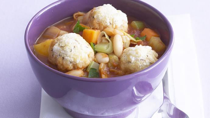 vegetable stew with caraway dumplings