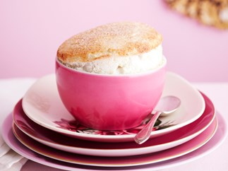 Apple and spice souffles