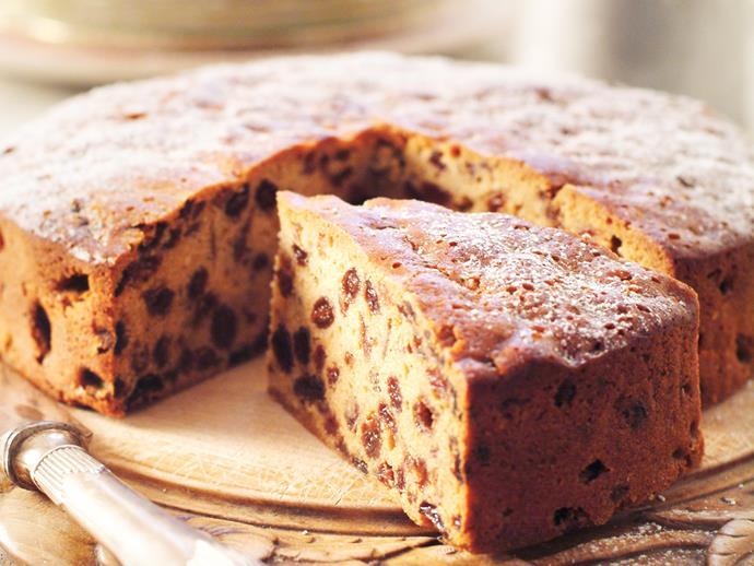 "**[Sultana cake](https://www.womensweeklyfood.com.au/recipes/sultana-cake-4319|target=""_blank"")**  Moist and buttery."