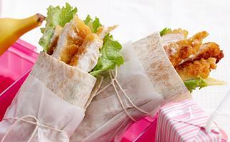 Chicken schnitzel wraps