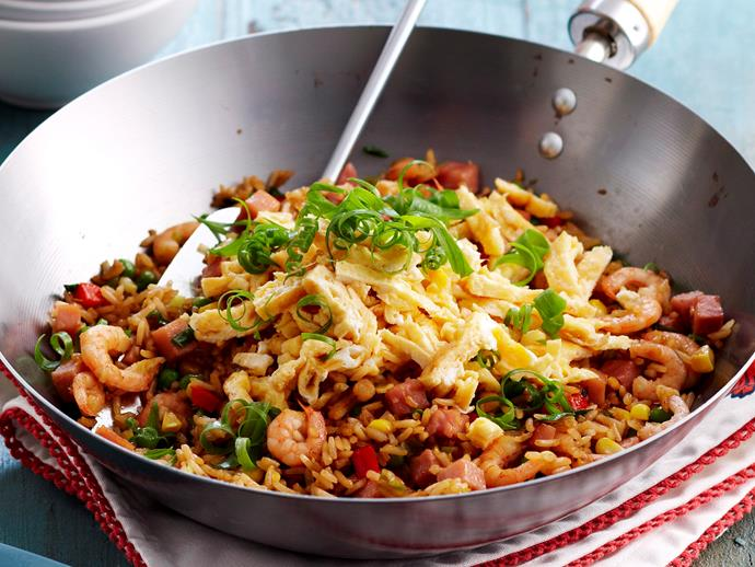 """Refrigerate your rice overnight before cooking, use the biggest pan you have and pre-heat it well. That will ensure this [Chinese fried rice](https://www.womensweeklyfood.com.au/recipes/chinese-fried-rice-18996