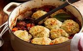 Classic beef stew with dumplings