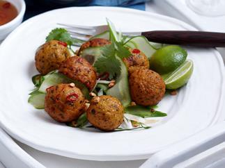 Coriander fish balls