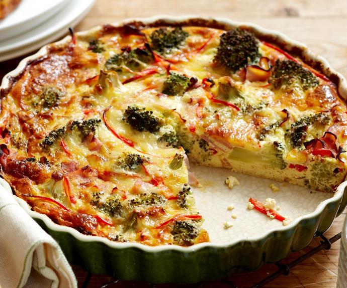 Crustless egg-free broccoli quiche