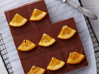 choc orange slice recipe