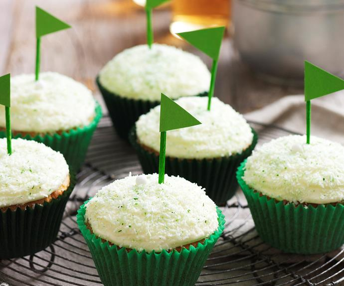 Father's day golf cupcakes
