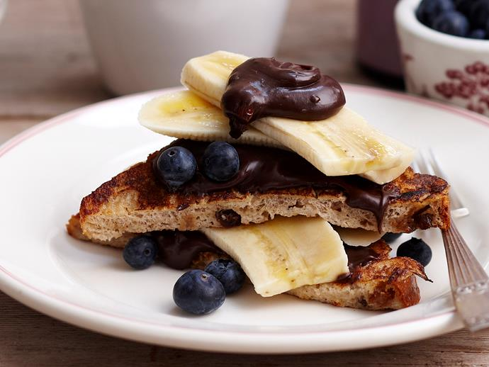 """**[French toast with hazelnut spread](https://www.womensweeklyfood.com.au/recipes/french-toast-with-hazelnut-spread-25889